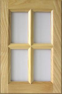 Kőris osztott üvegkeretes